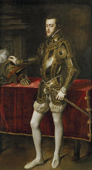 a9fe303de Tiziano Vecellio (1490-1576) Retrato de Felipe II 1551 óleo sobre tela 193  × 111 cm. Museu do Prado Madrid