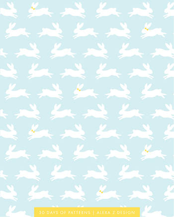 bunnies pattern 30 Days of Patterns Alexa Z Design