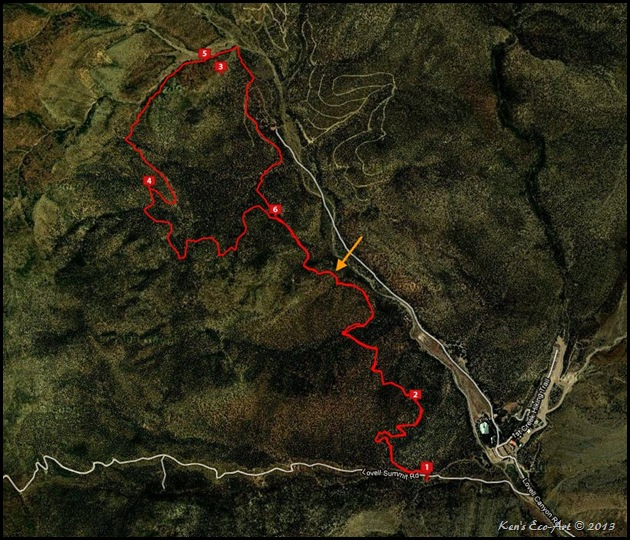 MAP-Lovell Canyon Trail