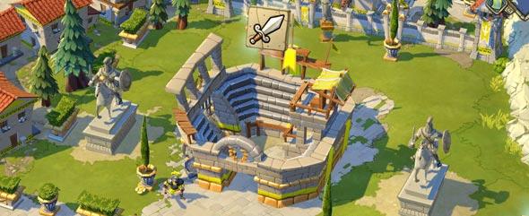 Arena da cidade de esparta.