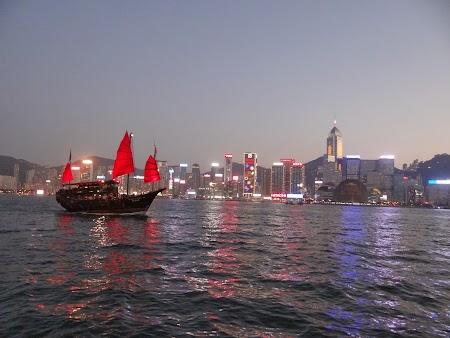 Junk boat HK