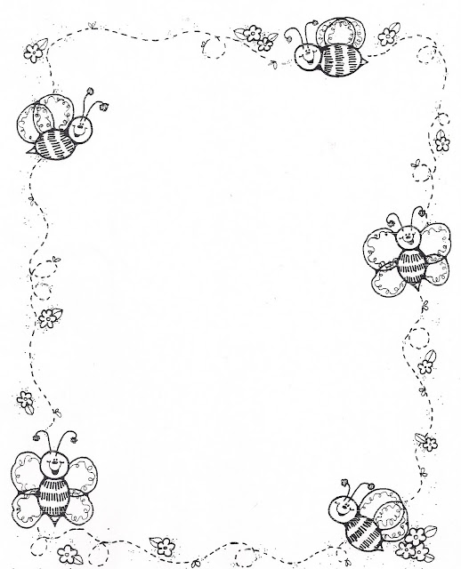 BORDERS B W COLORING PAGES