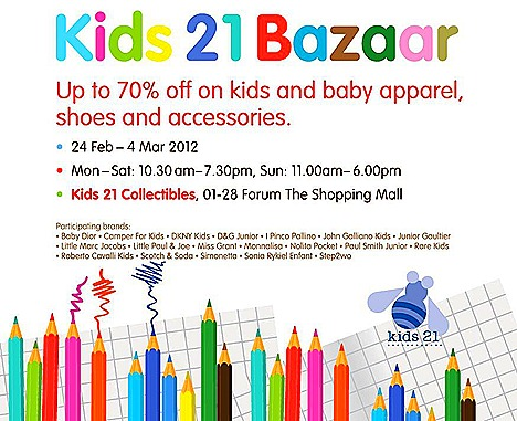 Club 21 kids Bazaar Clothes shoes accessories Baby Dior, D&G Junior, DKNY Kids,Little Marc Jacobs, Junior Gaultier Galliano Kid