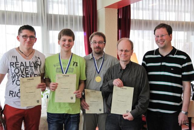 Vereinsmeisterschaften 2013: Siegerehrung Doppel