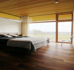 diseño interior habitación con madera