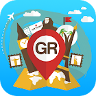 Greece travel guide map offlin icon