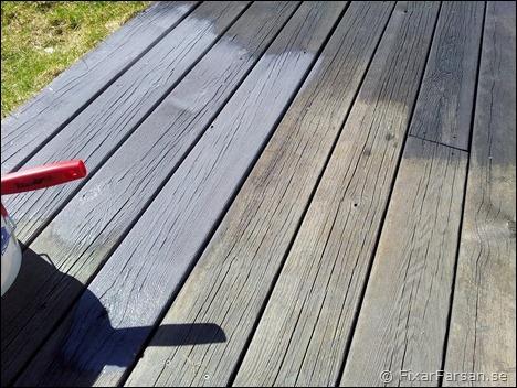 Omtalade Färga Gammal Altan - Träolja med Pigment | FixarFarsan QO-02