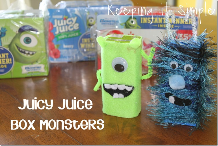 Keeping it Simple: Juicy Juice Box Monsters #MUJuice