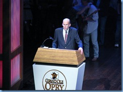 9113 Nashville, Tennessee - Grand Ole Opry radio show - radio announcer