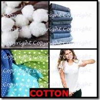 COTTON- 4 Pics 1 Word Answers 3 Letters