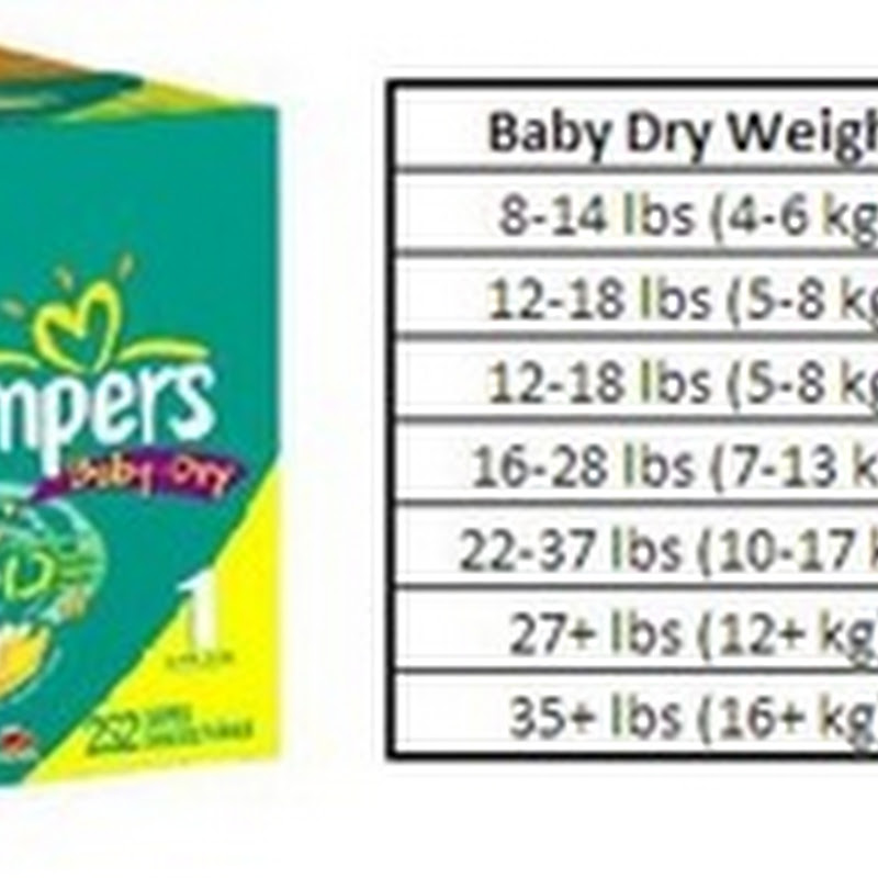 Pampers size N use average diapers per month are for babies weighing up to 10 lb. (up to kg) smaller newborn infants. They may be too small for some infants. Pampers Size 1 use average diapers per month are for babies weighing lb. ( kg) larger newborns and infants up to 3 months old.. Pampers Size 2 use average diapers per month are for babies weighing lb. ( kg.