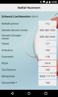 Helvetia Notfall Applikation- screenshot thumbnail