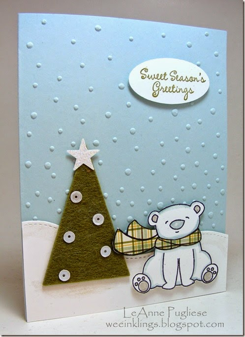 LeAnne Pugliese WeeInklings Paper Players 224 Sweet Season's Greetings Polar Bear Christmas