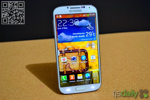 Samsung Galaxy S4 Review Front