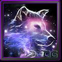 Neon Wolf Galaxy Parallax LWP icon