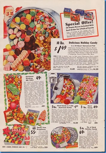 1940 Christmas Catalog for Candies