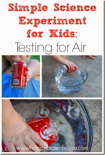 Simple Science Experiment for Kids: Testing for Air #homeschool #education #science