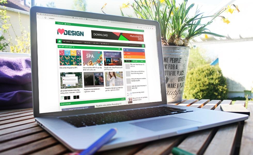 Bộ Mockup thể hiện giao diện website trên laptop và điện thoại