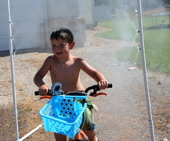 summer fun bike sprinkler
