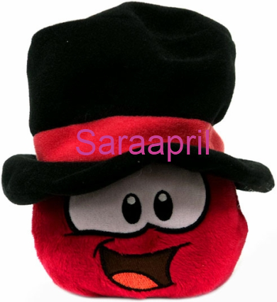 Red with Top Hat Puffle Plush 4 Inch Exclusive Series 11 :)