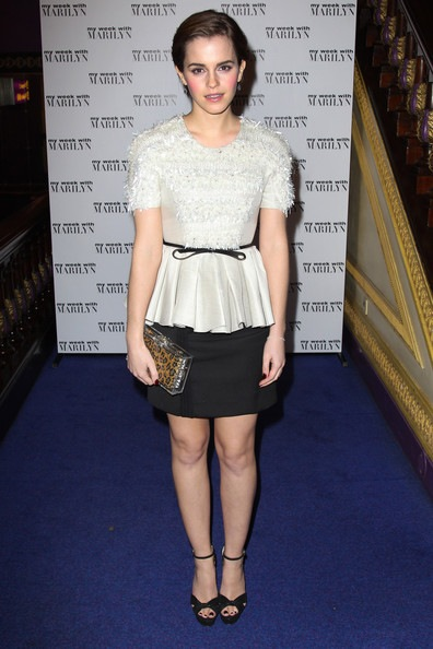 Emma Watson attends the UK premiere of My Week with Marilyn