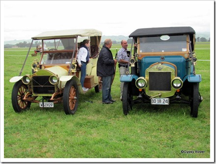 Beautifully restored cars  of the early 1900's. An Austin and a Wolsley?