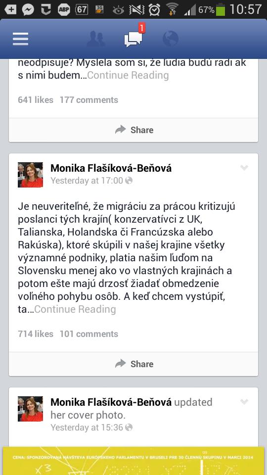 9a595617b Komentár k príspevku Moniky Flašíkovej beňovej.   Otvorme spoločne ...