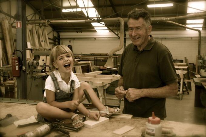 Marie en her grandfather