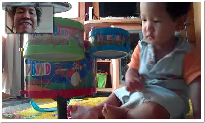 video call sambil main drum