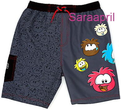 Club Penguin Swimming Shorts For Kids :)