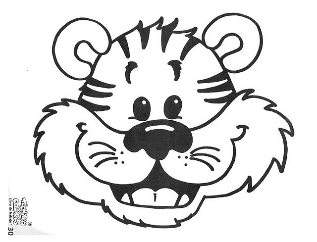 Cara De Tigre Para Colorear