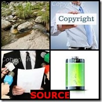 SOURCE- 4 Pics 1 Word Answers 3 Letters