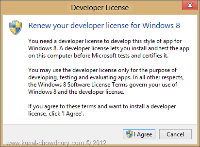 Windows 8 Developer License - Renew Developer License