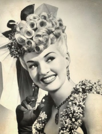 1940's Betty Grable bangs - Pin Curls 101 | Lavender & Twill