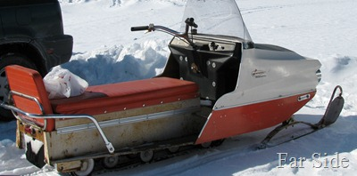 Old Larson snowmobile