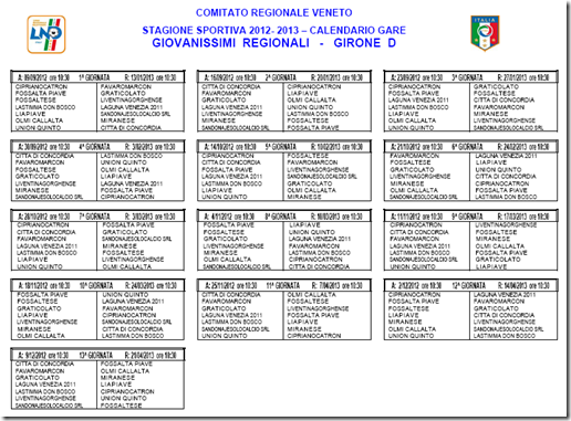 Calendario Giovanissimi Regionali.Giovanissimi Vigor Cintese 2010 2011 Calendario
