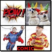 COMIC- 4 Pics 1 Word Answers 3 Letters