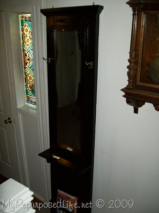 door repurposed into hall tree