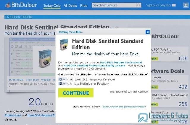 Offre promotionnelle : Hard Disk Sentinel Standard gratuit !