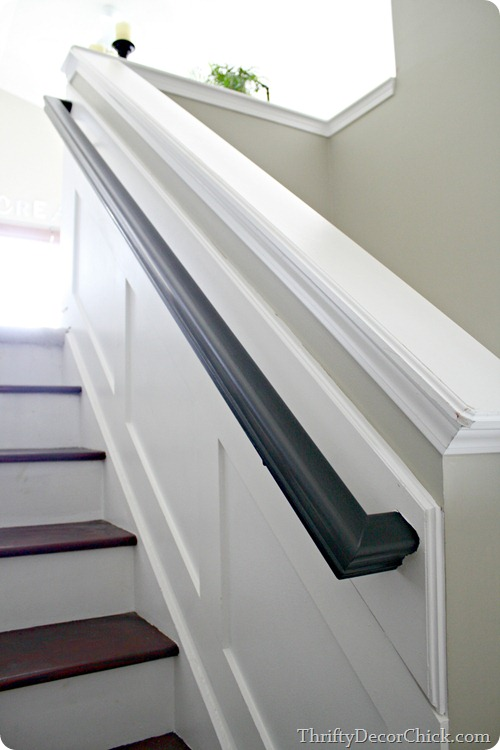 black stair rail