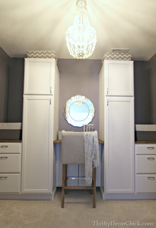 closet makevover with cabinets