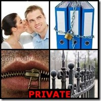 PRIVATE- 4 Pics 1 Word Answers 3 Letters