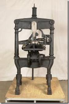 Albion hand printing press, 1850 Expresd