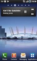 Screenshot of Samsung Galaxy S music widget