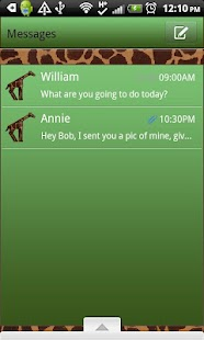 GO SMS THEME/GreenGiraffe- screenshot thumbnail
