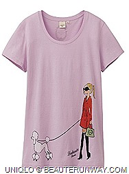 Singapore Laduree Macarons UNIQLO UT t-shirts French patisserie macarons, confectioneries chic Parisian trench coat culture artworks dog walking French poodle price S$24.90 pop art designs available delicious designs Takashimaya