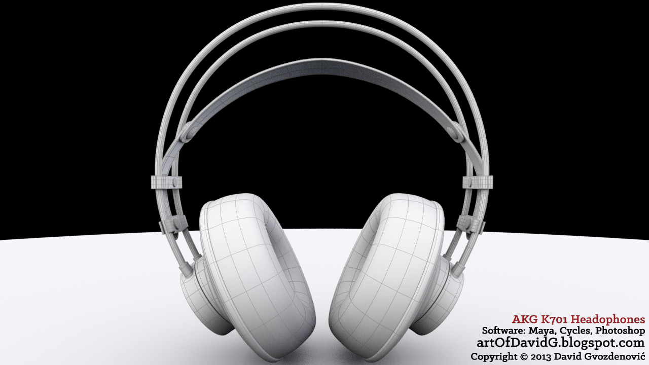 AKG headphones 3D model by David Gvozdenović