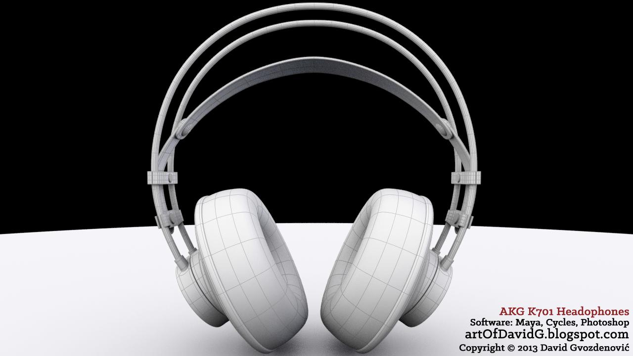 AKG headphones 3D model by David Gvozdenović