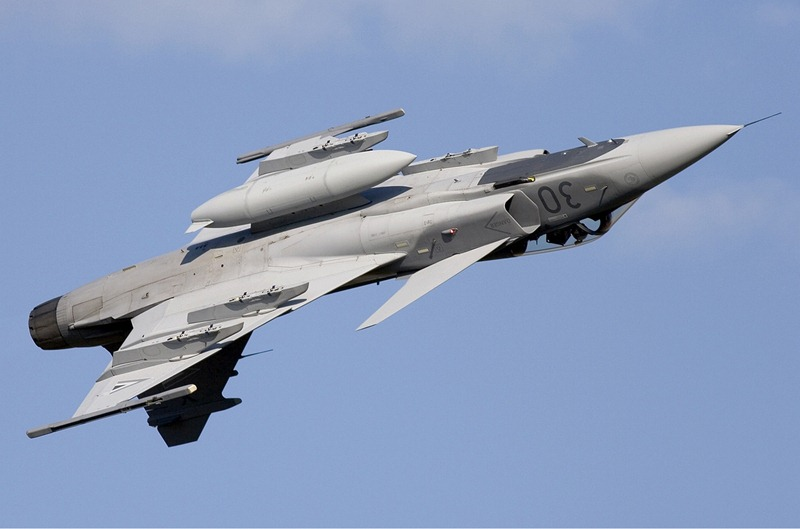 Unmanned-Saab-JAS-39-Gripen-Fighter-Aircraft-Sweden