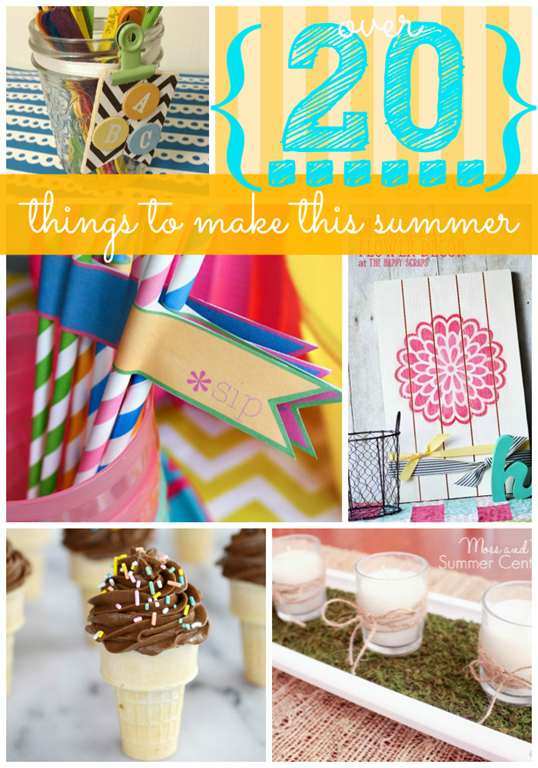 Over Twenty Things to make this Summer #feature @gingersnapcrafts.com